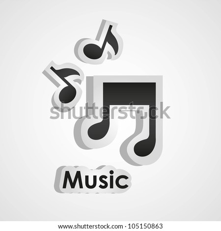 icons of music, with scissors and cut lines, vector illustration