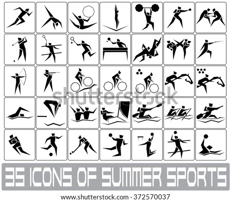 icons of summer sports