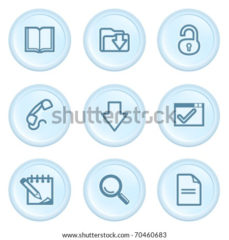 Icons on blue button 6