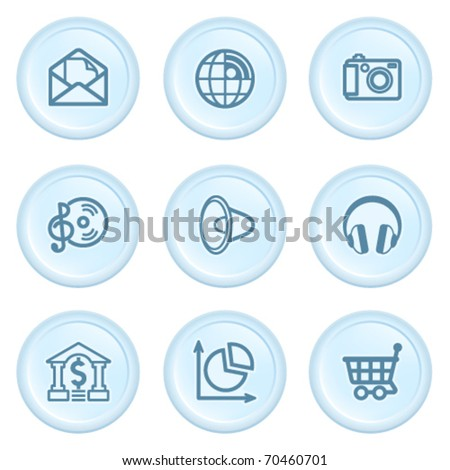 Icons on blue button 5