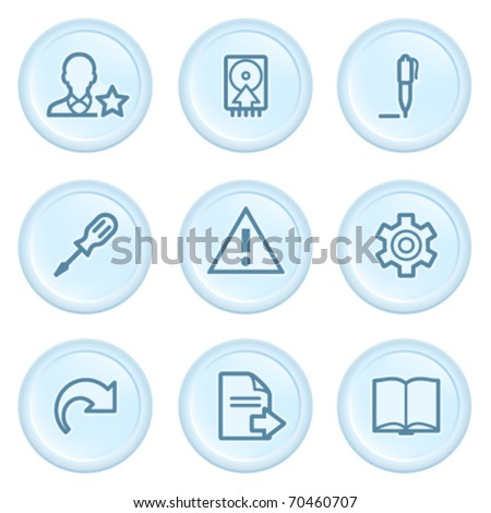 Icons on blue button 7