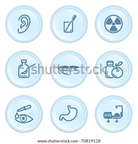 Icons on blue button 15