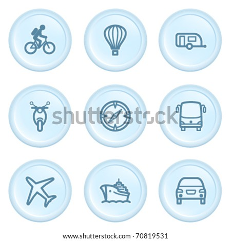 Icons on blue button 20
