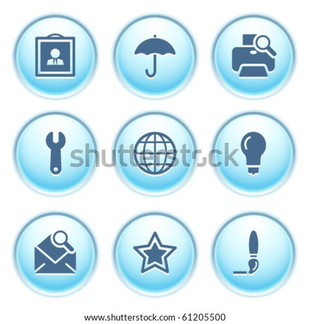 Icons on blue buttons 9