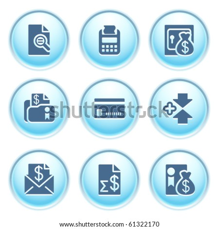 Icons on blue buttons 14