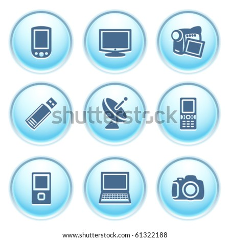 Icons on blue buttons 16
