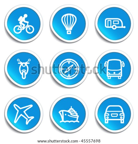 Icons on blue stickers 20