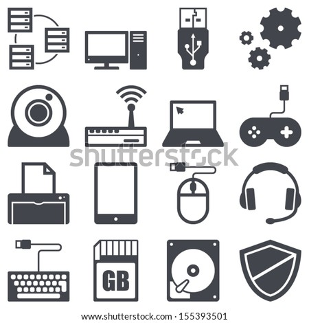 icons set about computer and