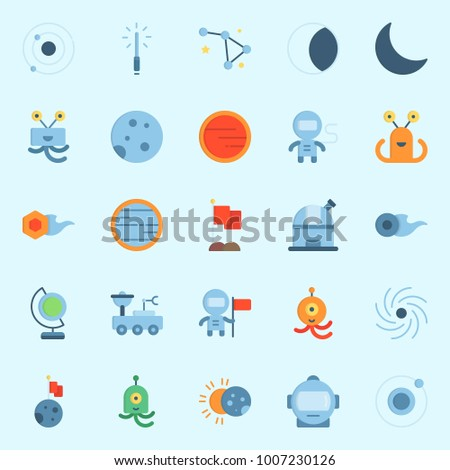 icons set about universe with
