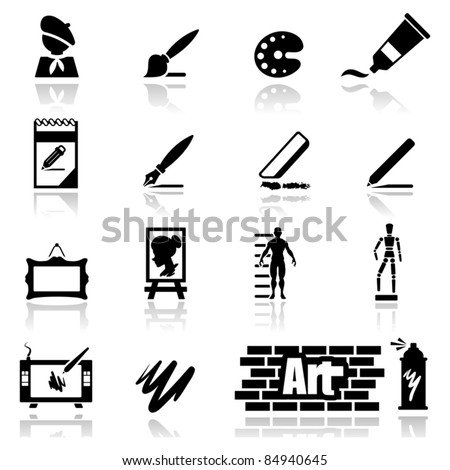 Icons set arts