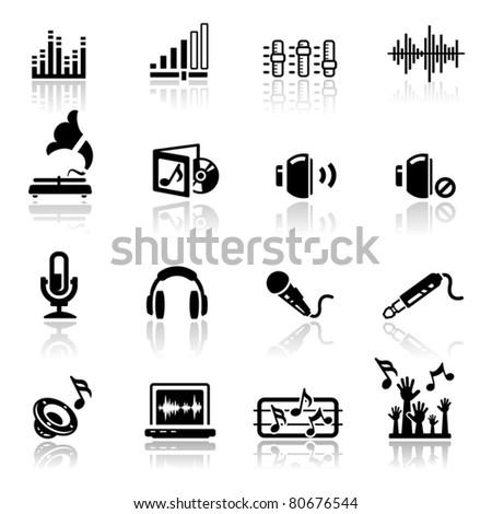 Icons set Audio