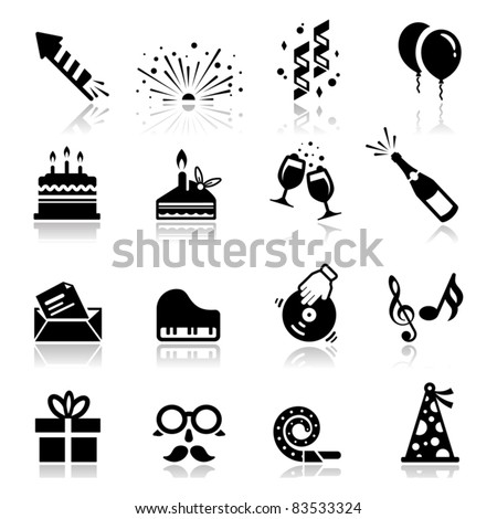icons set birthday and