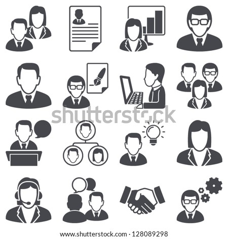 Icons set: business people