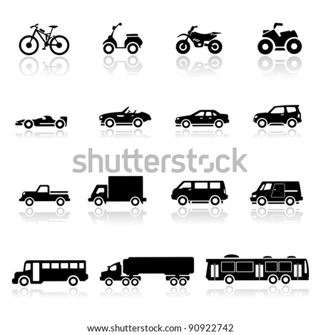 Icons set cars