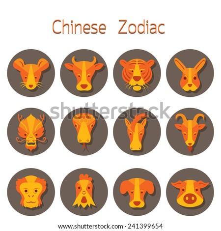 icons set   chinese zodiac