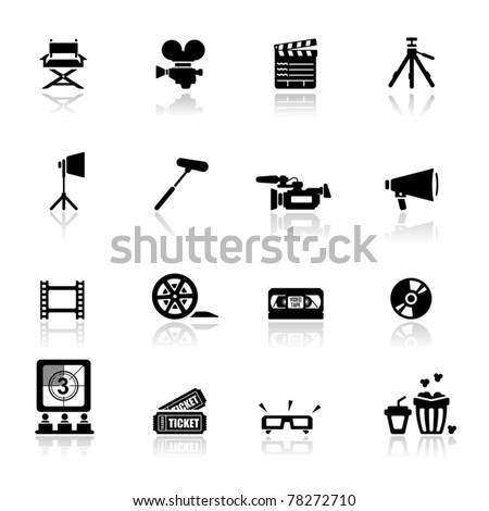Icons set Cinema and movies