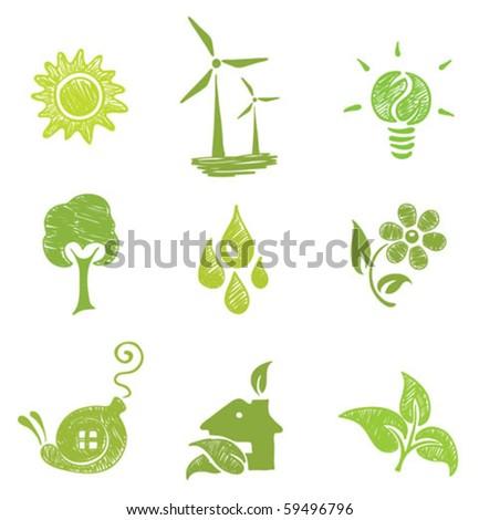 icons set - Ecology
