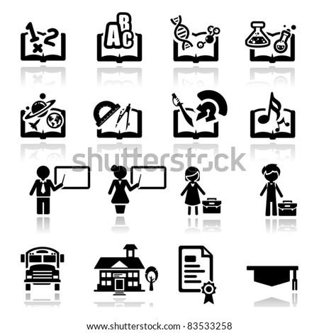 Icons set Education