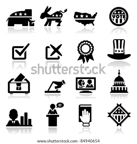 Icons set Election