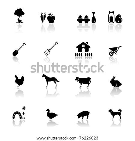 Icons set farm