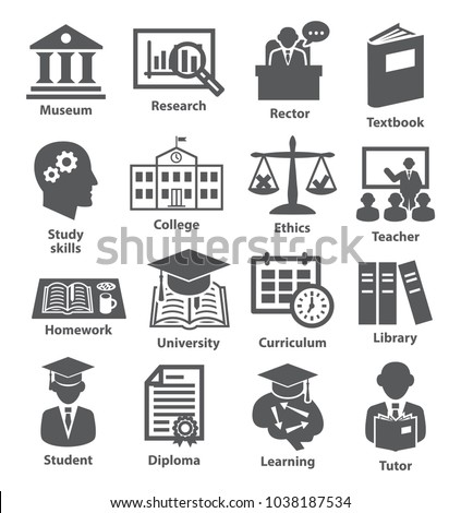 Icons set for education, career, training and tutorship