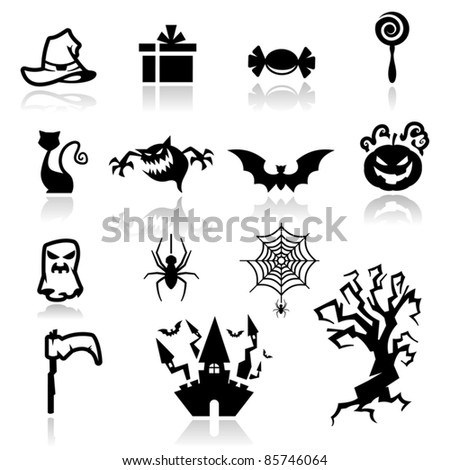 Icons set Halloween two