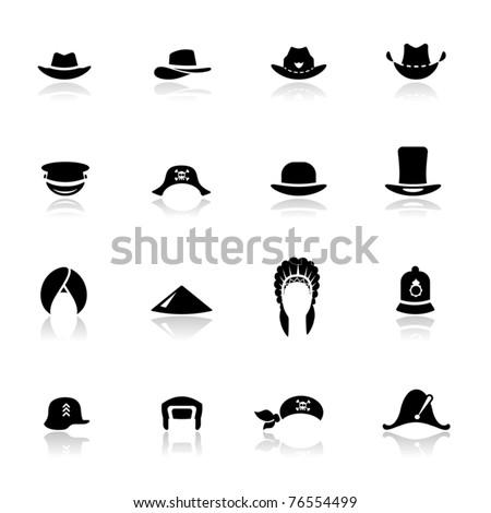 Icons set hats Stock photo ©