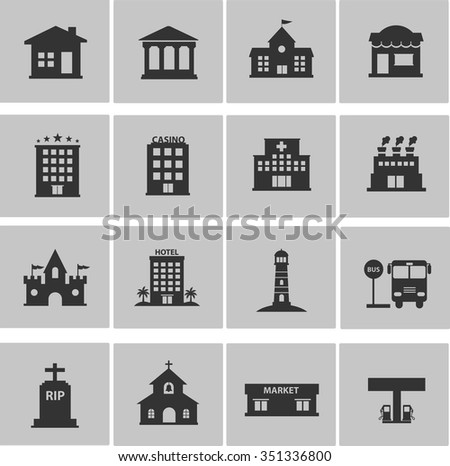 icons set of Building