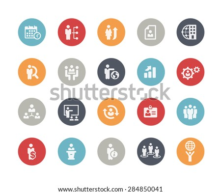 Icons Set of Human Resources and Business Management // Classics Series