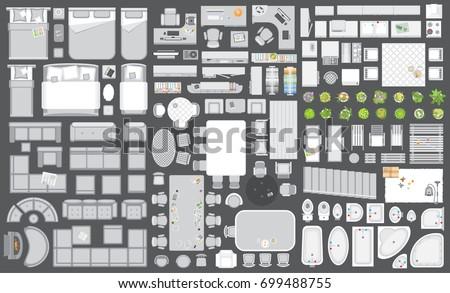 icons set of interior