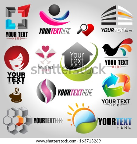 icons set of modern vector