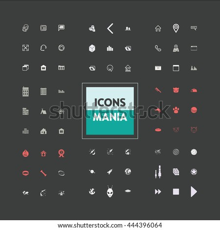 icons set of ready made on