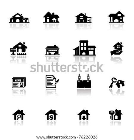 Icons set real estate