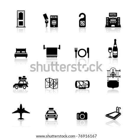 Icons set Safari and hotel