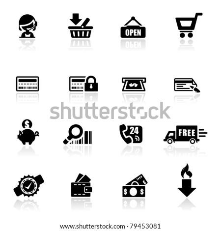 Icons set Shopping