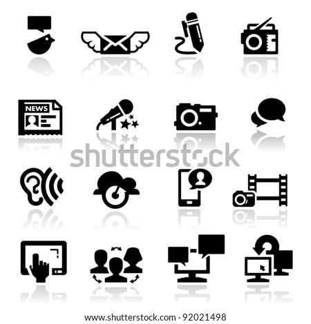 Icons set social media