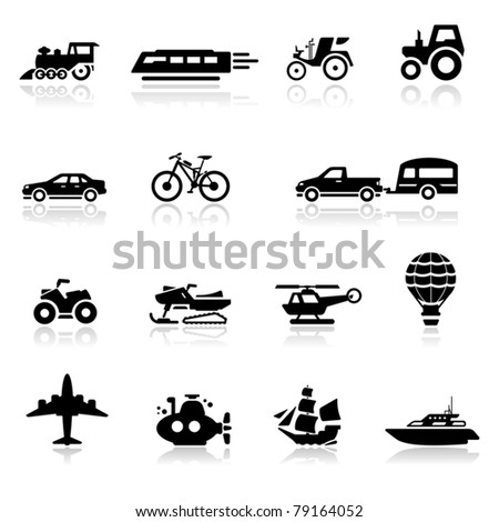 Icons set transportation - stock vector