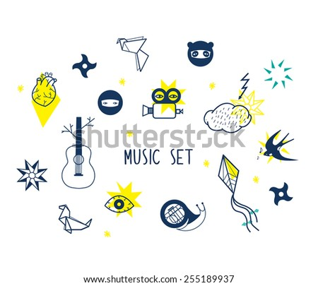 Icons Set Vector Illustration Of Multimedia Symbols, Sound ...