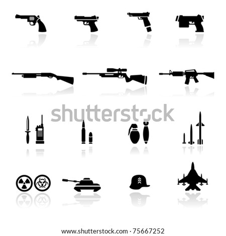 icons set weapons
