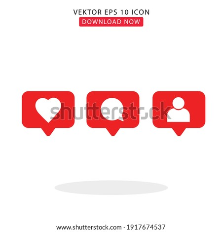 Icons simple vektor with white background Stock foto ©