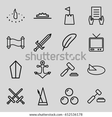 icons such as holding document
