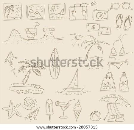 Icons - summer&beach (Set 3)