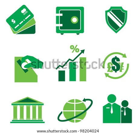 icons  themes of the Bank