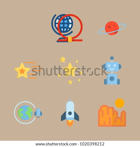 icons universe with robot