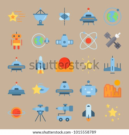 icons universe with sun  planet