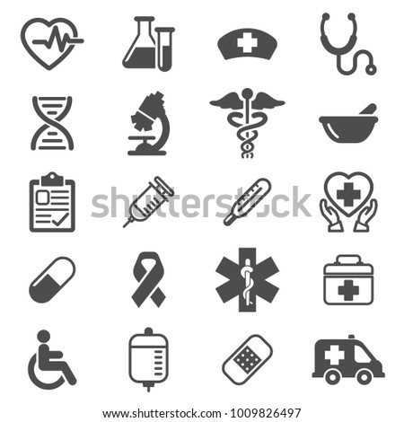Icons Vector Medical and healthcare