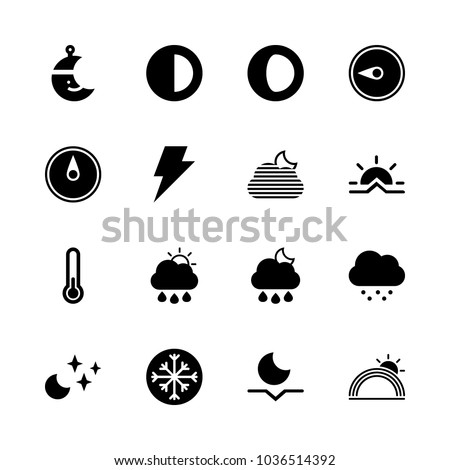 icons weather with moonset
