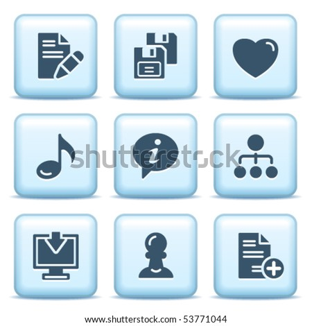 Icons with blue buttons 10