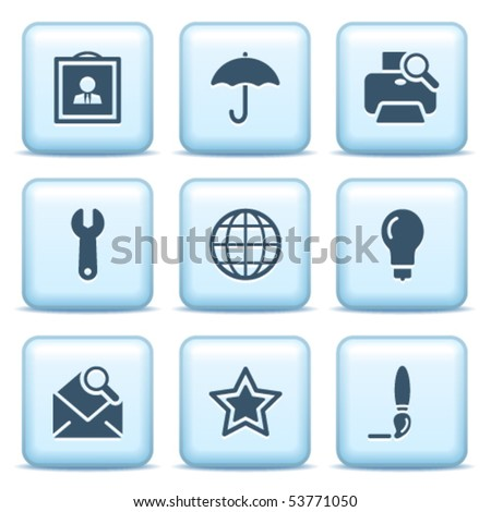 Icons with blue buttons 9