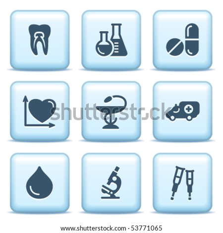 Icons with blue buttons 12
